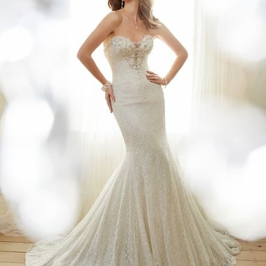 Sophia Tolli Y11708 Angelique Light Champagne/ Silver Size 12 Was £1365 Now £680