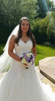 The lovely Michelle on her big day