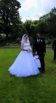 Gemma and her hubby on their big day
