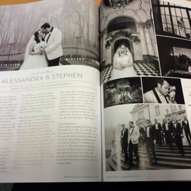 Alexandras Wedding in a Magazine Feature