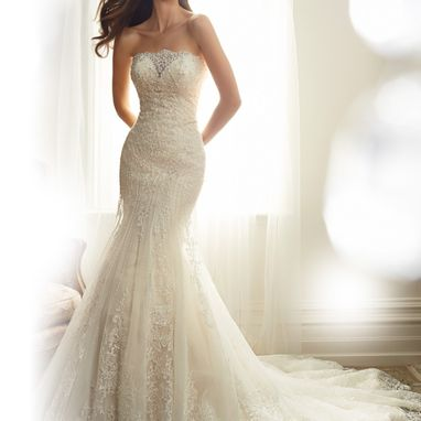 Sophia Tolli Y11574 Alouette Almond/ Ivory Size 14 Was £1,635 Now £815