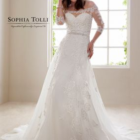 Sophia Tolli Zirconia with Matching Jacket