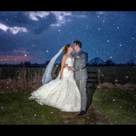 Our stunning Bride Rachel in a Blizzard
