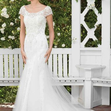 Casablanca 2287 Gloriosa Size US 12 Ivory/ Silver was £1667 NOW £750
